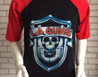 Vintage L.A. Guns former guns n roses henley shirt 80's
