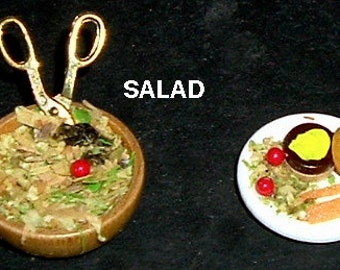Miniature SALAD & TURKEY BURGER (Yum Yums)
