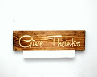 Rustic Thanksgiving Sign, Give thanks, Farm house decor, Thanksgiving decorations, countyr home decor