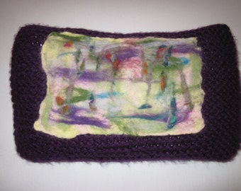 Knitted & Wet Felted Handmade Cushion
