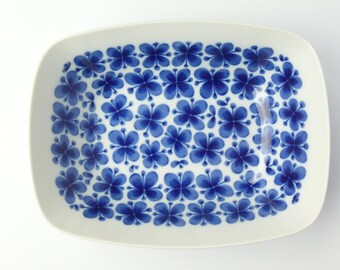 Rorstrand Mon Amie large serving bowl, dish/ Marianne Westman iconic blue flower/ Scandinavian mid century modern/design classic collectible