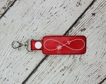 Infinity Arrow Keychain/Zipper Pull