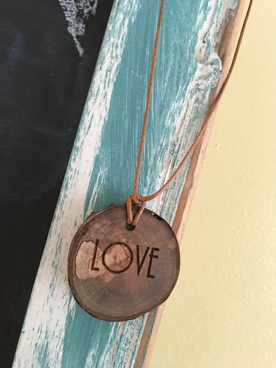 Custom wood necklace - diffuser
