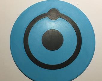 3D Printed Watchmen Dr Manhattan Logo Coaster / Plaque