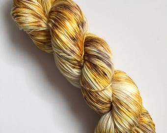 Saharan Sands Speck-Al Hand Dyed Sock Yarn 100g DYED TO ORDER