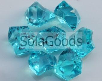 16*19*25MM acrylic plastic vase filler acrylic transparent ice rock gemstone , wedding table bead stone scatter ,plastic confetti bead50/100