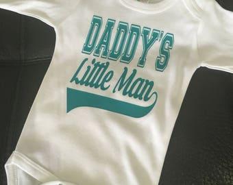 Daddys little Man Onesie or tshirt