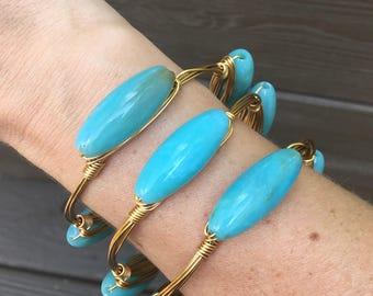 Aqua Blue Bangle