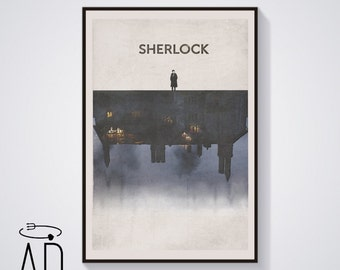 Sherlock Holmes BBC TV Series,Vintage Style,Benedict Cumberbatch Poster,Doctor Watson Print,Movie Poster,Graphic Design,Musgrave,Season 4