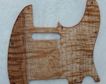 Figured Spalted Maple Solid Wood Telecaster Style Pickguard #437