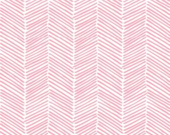 Baby Swaddle | Organic Swaddle, Baby Girl Swaddle, Pink Herringbone Swaddle, Baby Blanket, Herringbone Blanket