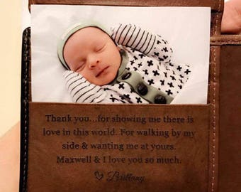 Fathers day gift from baby, gift for dad, mens wallet, New Dad gift, First Fathers day gift, Happy Father's day Toffee 7751