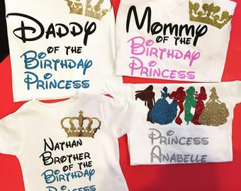 Mommy of the birthdah princess mom shirt