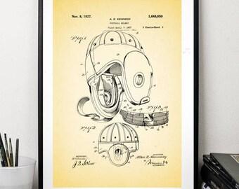 Football helmet patent prints sport print helmet  wall art decor home patent art vintage patent print minimalist art 5 x 7 8 x 12 12 x 16