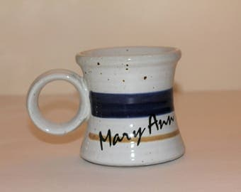 Vintage Pottery Mug Clay in Mind Mary Ann Design