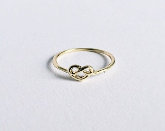 Infinity Ring GOLD Connected Heart Rings