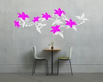 Flowering vine wall vinyl