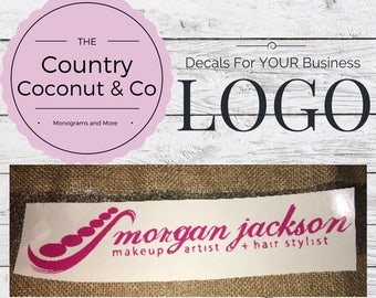Custom Vinyl Decals for Your Comany's LOGO/ Custom Vinyl LOGO Decal/ Custom Vinyl Business LOGO Decal/ Custom logo decal/ Custom Vinyl Decal