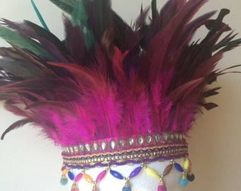 Festival feather headdress