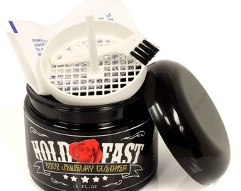 Hold Fast Body Jewelry Cleaner-Non Toxic-Natural Ingredients-Silver cleaner-Gold Cleaner-Opal Cleaner-Ruby cleaner-Sapphire Cleaner