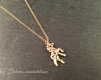 Chain gold Unicorn simply