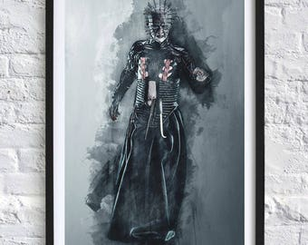 Hellraiser - Pinhead 'Watercolor' Digital Download