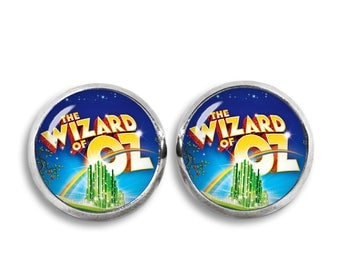 Wizard of Oz Stud Earrings Wizard of Oz 12mm Earrings Fandom Jewelry Kawaii Geeky Fangirl Fanboy