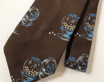 Vintage Novelty Retro Gumball Root Beer Neck Tie