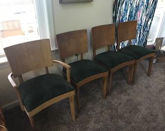 4 Heywood Wakefield chairs