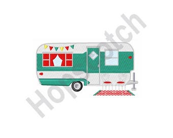 Camper Travel Trailer- Machine Embroidery Design