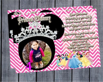 Minnie Mouse and Princess Invitation