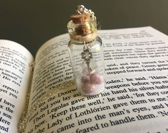 Key Charm Potion Bottle| Pink potion bottle, fairy dust, magic, fantasy, crystals in a bottle