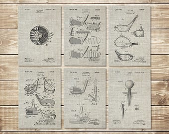 Golf Wall Decor, Patent Print Set, Golf Wall Print, Golf Art Poster, Vintage Golf Art, Golf Art Decor,Golf Wall Art, Decor, INSTANT DOWNLOAD