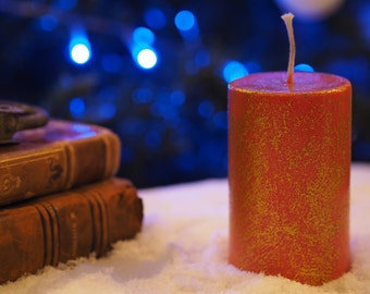 Red sequined candle