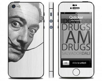Dali skin iPhone 5s, Dali decal iPhone 4s, iPhone 5s skin, iPhone 4 decal, decal iPhone se, iPhone se skin, 3M vinyl