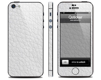 Leather sticker iPhone 5s, leather decal iPhone 4s, iPhone 5s skin, iPhone 4 decal, decal iPhone se, iPhone se skin, 3M vinyl (WHITE)
