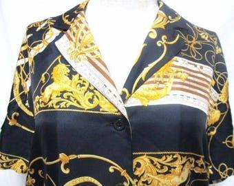 Louis Ferard 100% Silk Vintage top blouse Size Sz 10
