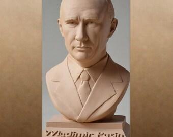 Wladimir Putin color sand bust figure sculpture