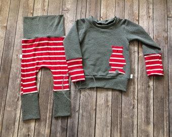 Harem pants & 12m sweater