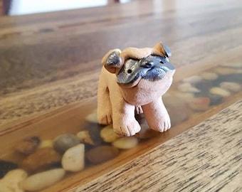 Little Guys Ceramic Pug Figurine