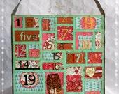 Adventskalender traditionell, COUNTDOWN bis Weihnachten,zum Befüllen