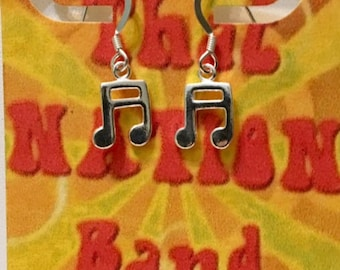 That NATION Band Sterling Silver Musical Note Earring