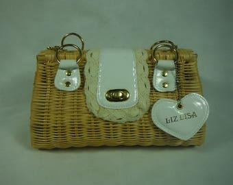 Handwoven rattan purse/handmade straw bag/wicker purse/handbag/gift/summer