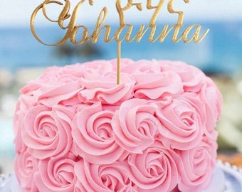 Personalized Ge'ez Fidel & English cake topper,Ethiopia/Eritrea cake topper, Amharic sign
