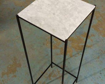 """Marble Modern Plant Stand 36"""""""