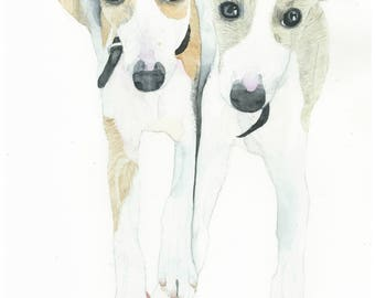 Custom Watercolour Pet Portrait, Custom Animal Portrait