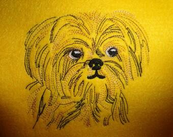 Sotis embroidery file dog Havanese Shih Tzu for the 10x10er framework