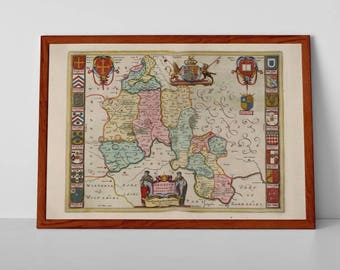 Oxfordshire Old Map | Fine Art Giclée Reproduction | Antique Map of Oxford;