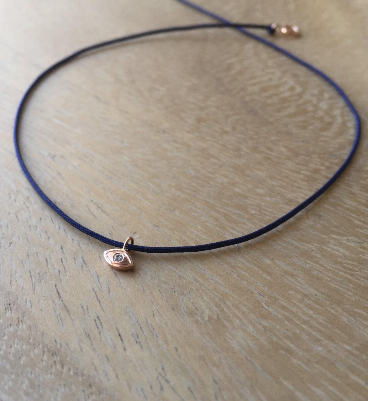 14k teeny tiny evil eye necklace diamond evil eye necklace. Black Bedroom Furniture Sets. Home Design Ideas