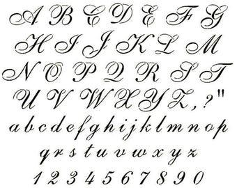 Alphabet stencils | Etsy